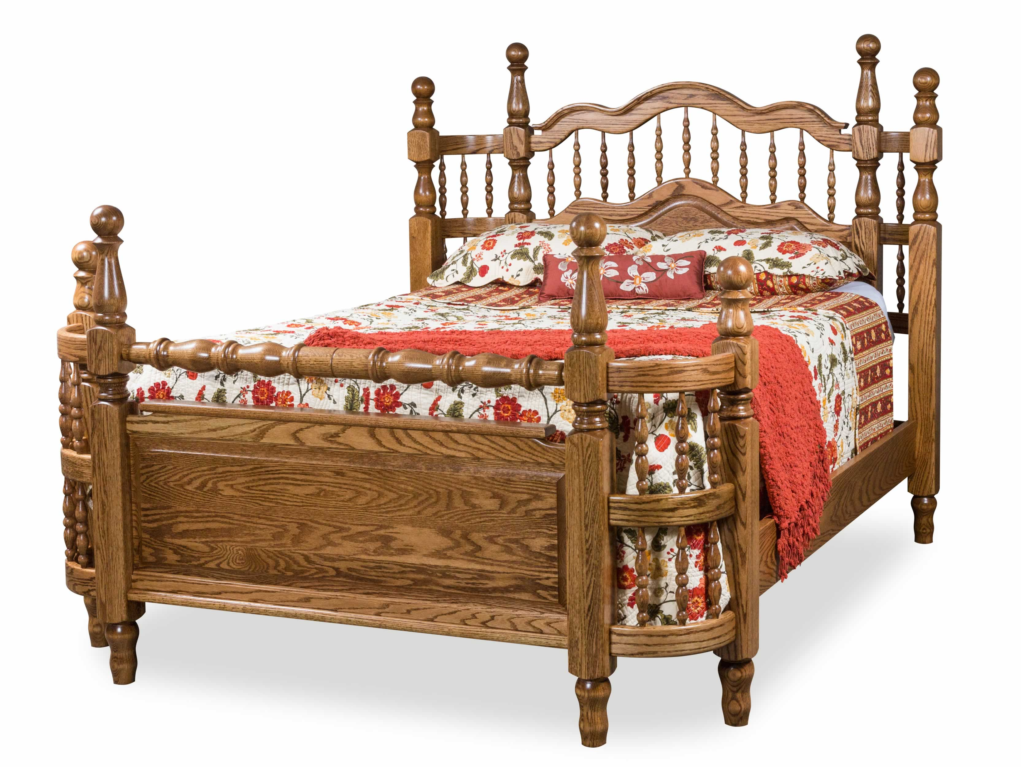 Amish made four poster bed frames