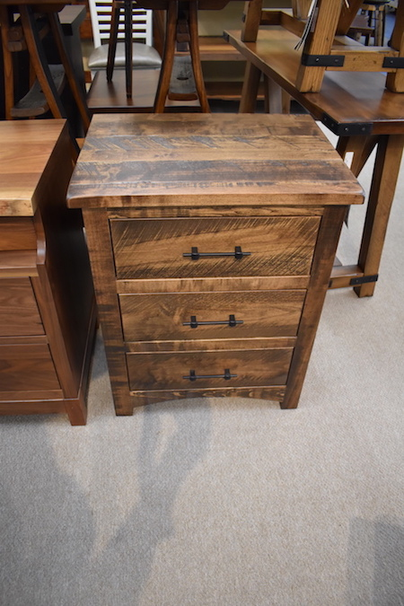 Barn Wood 3 Drawer  Night Stand