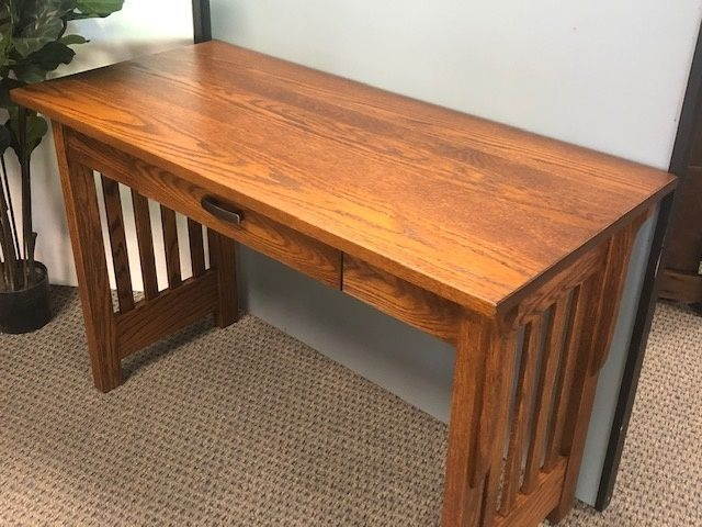 Mission Style Writing Desk in Red Oak